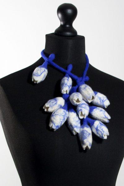 Collier 'Tulpenmanie' delftsblauw