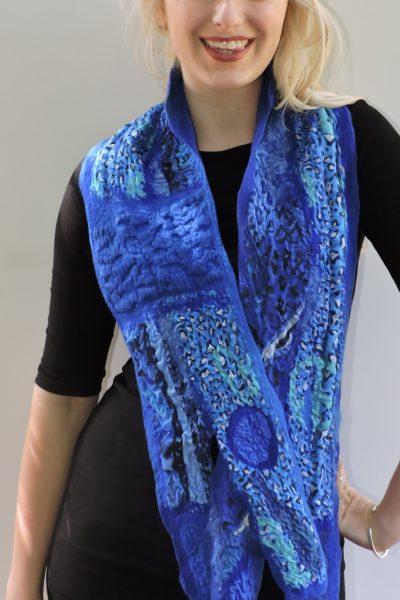 Sjaalkraag, blauw
